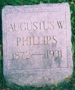 Tombstone of Augustus W. Phillips
